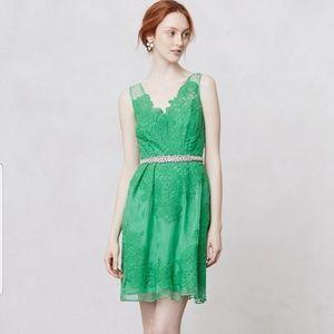 BHLDN Anthro Yowna Baraschi cloverlace dress